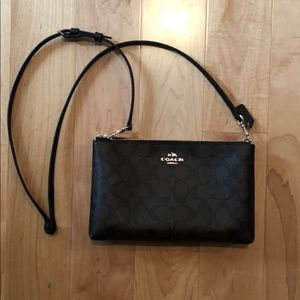Authentic Coach Crossbody Brown/Black Bag